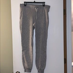 Gray jogger sweats
